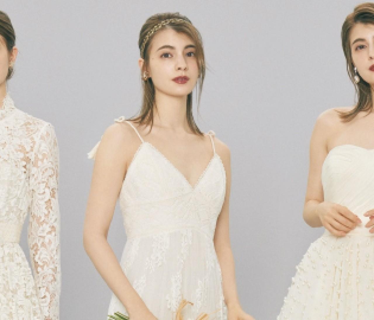 クラシカルなベージュのウェディングドレス【10年先も美しいニュアンスカラードレス③】