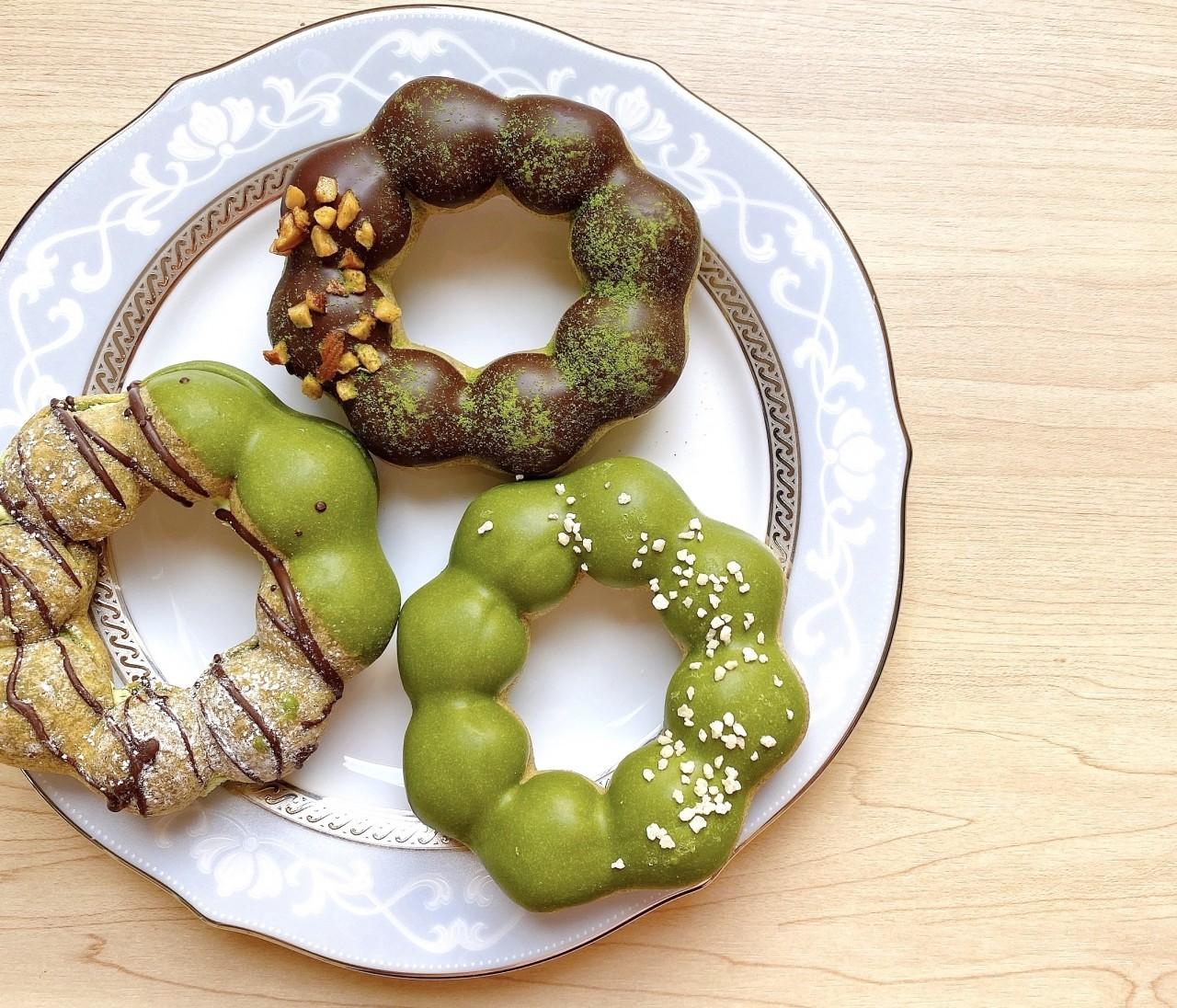 ミスドで3時のおやつ♡宇治抹茶とショコラのドーナツ