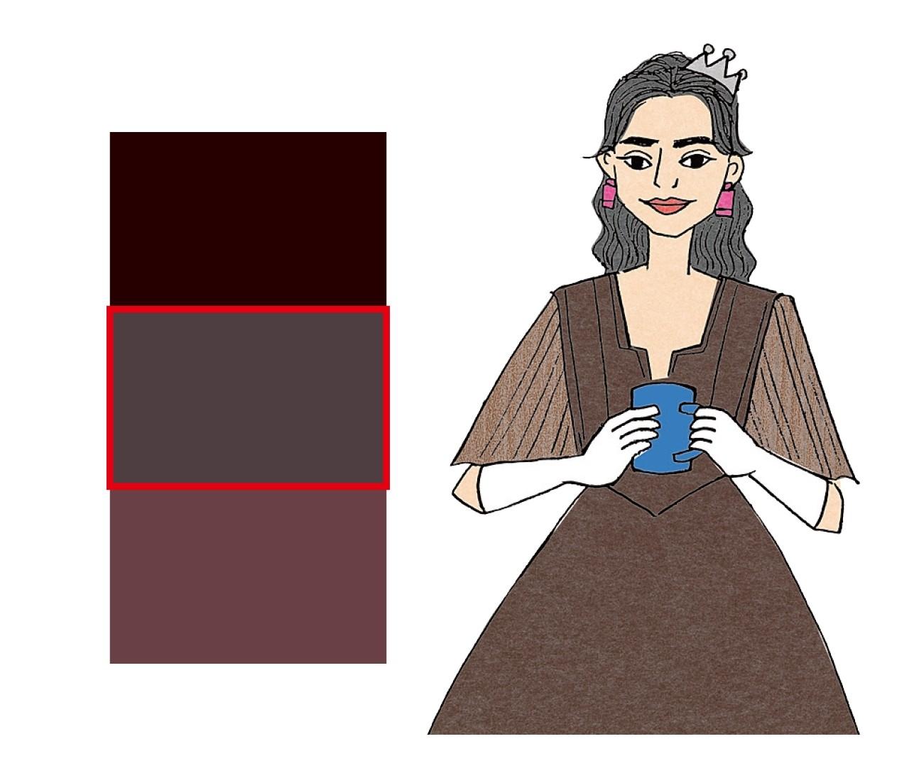 【ブルベ×男顔】ココアブラウン姫は渋めブラウンでクールに着こなす!